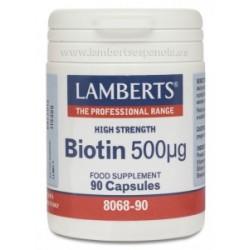 BIOTINA 500UG 90CAP LAMBERTS