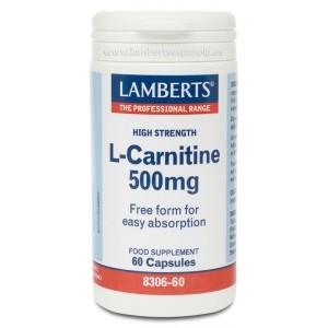 L CARNITINA 500MG 60CAP LAMBERTS