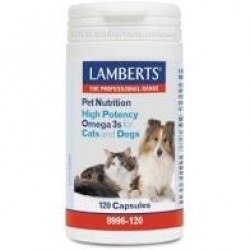 OMEGA 3 FOR CATS AND DOGS 120 CAPSULAS LAMBERTS