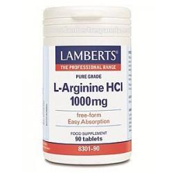 L ARGININA HCI 1000MG 90TAB LAMBERTS