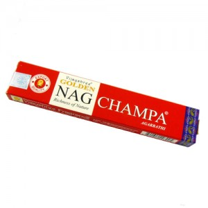 INCIENSO NAG CHAMPA GOLDEN 15GR