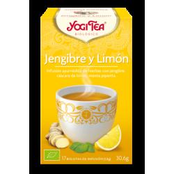 YOGI TEA JENGIBRE Y LIMÓN 17 FILTROS