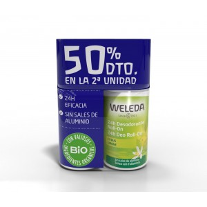 DUPLO DESODORANTE CITRUS ROLL-ON 2º UNIDAD 50% WELEDA